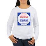 High Interest Rates Women's Long Sleeve T-Shirt