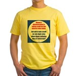 High Interest Rates Yellow T-Shirt