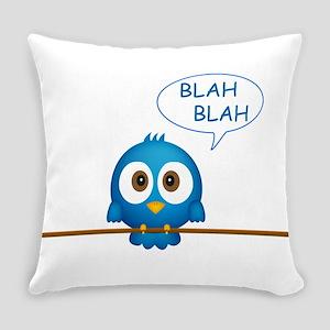 Blue twitter bird talking Everyday Pillow