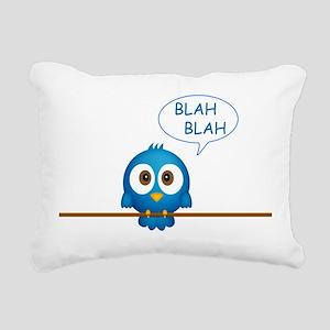 Blue twitter bird talkin Rectangular Canvas Pillow
