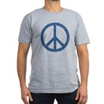 Blue Peace Sign Men's Fitted T-Shirt (dark)