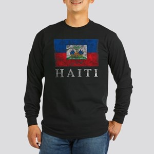 Vintage Haiti Long Sleeve Dark T-Shirt