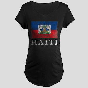 Vintage Haiti Maternity Dark T-Shirt