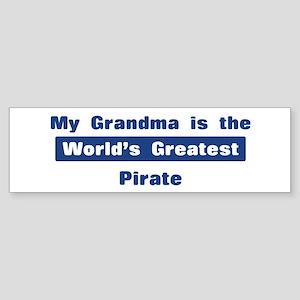 Grandma is Greatest Pirate Bumper Sticker