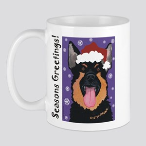 German Shepherd Santa Mug