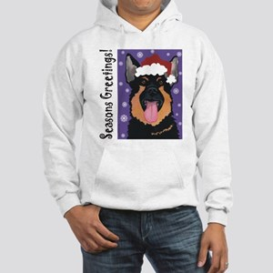 German Shepherd Santa Hooded Sweatshirt
