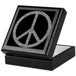 White Peace Sign Keepsake Box