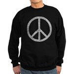 White Peace Sign Sweatshirt (dark)
