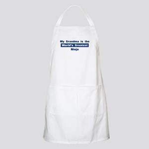 Grandma is Greatest Ninja BBQ Apron