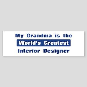 Grandma is Greatest Interior Bumper Sticker