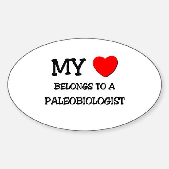 My Heart Belongs To A PALEOBIOLOGIST Decal