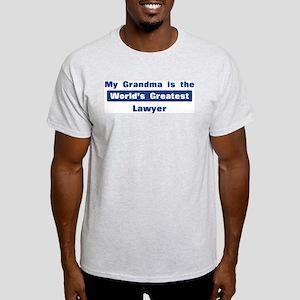 Grandma is Greatest Lawyer Light T-Shirt