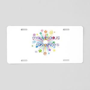 Mawmaw's Favorite Grand Aluminum License Plate