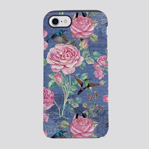 Vintage Roses and Birds Flower iPhone 7 Tough Case