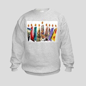 Fabric Chanukah Menorah Kids Sweatshirt