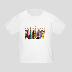 Fabric Chanukah Menorah Toddler T-Shirt