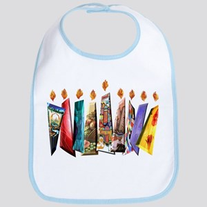Fabric Chanukah Menorah Bib