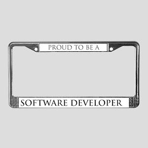 Proud Software Developer License Plate Frame