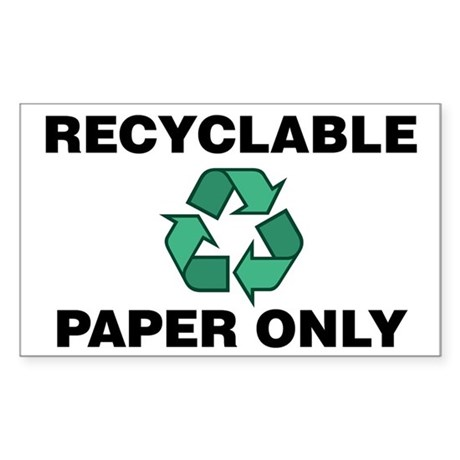 Recyclable Paper Only Wrecycle Symbol Decal By Digitalgarden