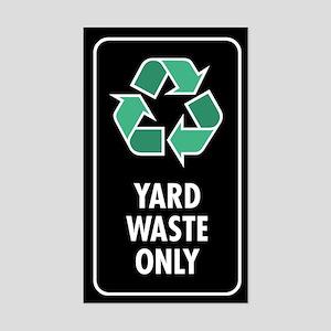 Yard Waste Only Sticker (Black w/Symbol)