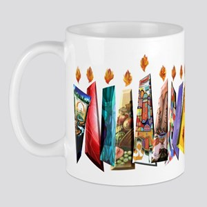 Fabric Chanukah Menorah Mug
