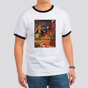 Vintage Science Fiction Futuristic City Ringer T
