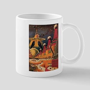 Vintage Science Fiction Futuristic City Mug