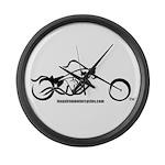 Texas Iron Motorcycles Large Wall Clock