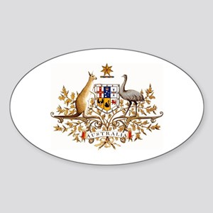 Australian Coat of Arms Oval Sticker
