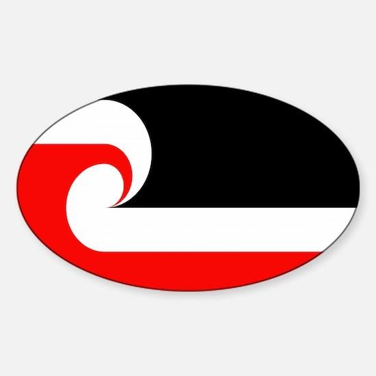 Maori Flag Oval Decal