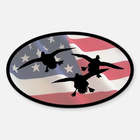 American Ducks Oval Decal