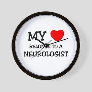 My Heart Belongs To A NEUROLOGIST Wall Clock
