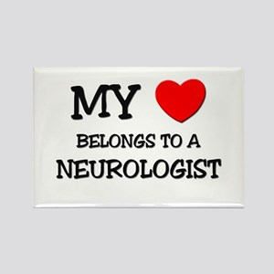 My Heart Belongs To A NEUROLOGIST Rectangle Magnet