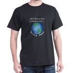 Christmas World Peas Dark T-Shirt