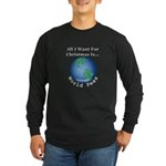 Christmas World Peas Long Sleeve Dark T-Shirt