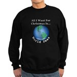 Christmas World Peas Sweatshirt (dark)