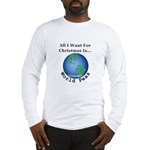 Christmas World Peas Long Sleeve T-Shirt