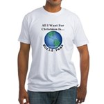 Christmas World Peas Fitted T-Shirt