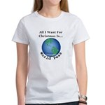 Christmas World Peas Women's Classic T-Shirt