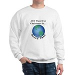 Christmas World Peas Sweatshirt