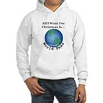 Christmas World Peas Hooded Sweatshirt
