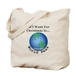 Christmas World Peas Tote Bag