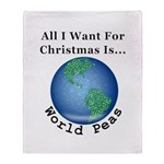 Christmas World Peas Throw Blanket