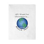 Christmas World Peas Twin Duvet Cover