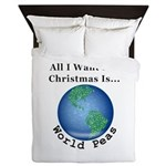 Christmas World Peas Queen Duvet