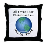 Christmas World Peas Throw Pillow