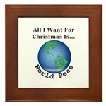 Christmas World Peas Framed Tile