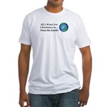 Christmas Peas On Earth Fitted T-Shirt
