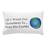 Christmas Peas On Earth Pillow Case