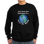 Christmas Peas On Earth Sweatshirt (dark)